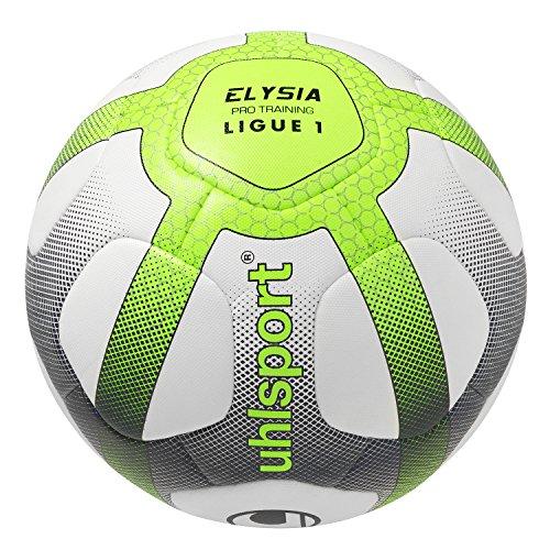 uhlsport Elysia Sala Fußball Ball, weiß/Marine/Fluo gelb, 4