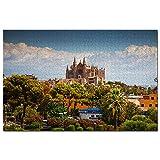 Spain Palma Mallorca Catedral Jigsaw Puzzle 1000 piezas juego ilustraciones viaje recuerdo madera