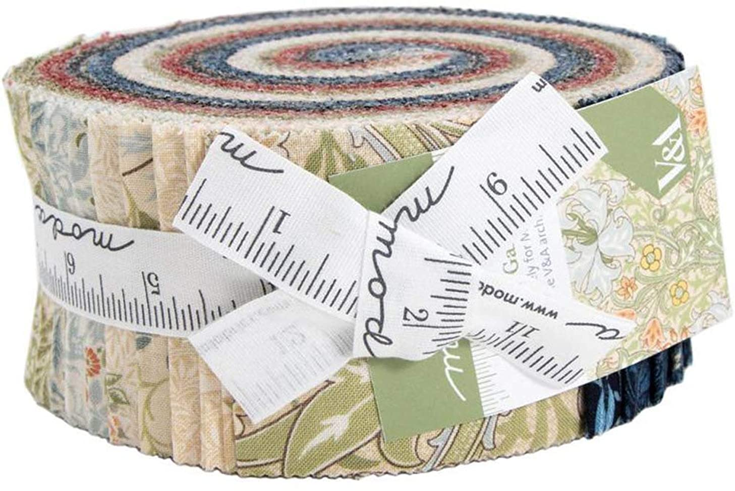 Morris Garden Jelly Roll by V and A for Moda Fabrics