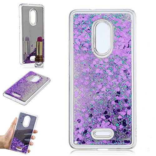 COZY HUT Alcatel 3C 5026A 5026C Hülle 3D Treibsand Creative Spiegel Hülle Case Transparente Kristallklaren Sparkly Silikon TPU Weich Back Coverfür Alcatel 3C 5026A 5026C - Lila Treibsand
