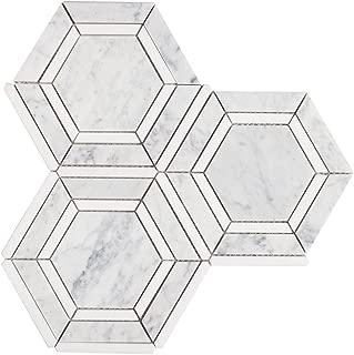Best hexagon tile backsplash Reviews