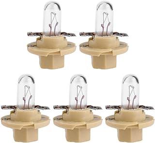 Starnearby 5 piezas T5 LED 12 V coche Auto interior instrumento luz bombillas salpicadero lámparas
