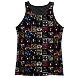KISS Rock Band Collection of Album Covers Adult Black Back Tank Top Shirt