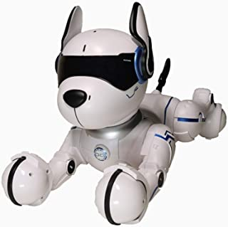 MARUSTAR Remote Control Robot Dog Toy,RC Robotic Stunt Puppy, Imitates Animal Sounds, Dances with Music, Robot Toys for Ki...