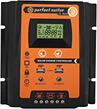 Qiilu. MPPT Solar Charge Controller Solar Panel Battery Intelligent Regulator with Dual USB LCD Display 12V/24V 50A