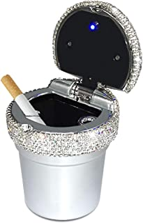 eing Car Ashtray Portable Bling Cigarette Smokeless Cylinder Cup Holder with Blue LED..