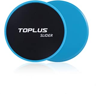 TOPLUS Exercise Slider, Dual Sides Workout Slider Strength Slider Gliding Discs for Core Exercise and Full Body Workout-Abdominal Fitness Equipment Work on Any Surface