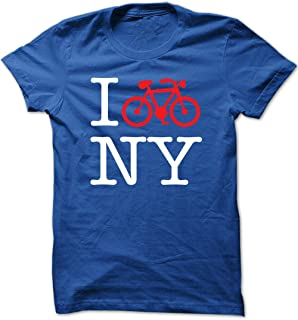 I Bike NY (New York) - Unisex Crew Neck T Shirt - Gifts and Shirts for Cyclists