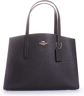 COACH Women's Polished Pebble Leather Charlie Carryall