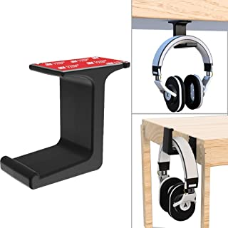 Headphone Hanger -Under The Desk Headphone Stand/Mount - 3M Tape - Sturdy Rubber Feel