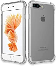 Crystal Clear/Ultra Thin/Shock Proof/Hard Pc + Soft TPU Transparent Bumper Back Cover for iPhone 7 Plus    8 Plus ONLY
