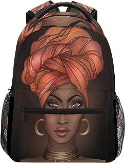 African American Girl Backpack Daypack College School Travel Shoulder Bag