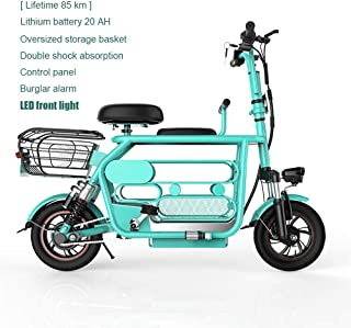 YDD 400w 48v Electric Scooter with Folding Handlebars,Pocket Bike with Child seat pet Box LED Lighting and Alarm Electric Harley Electric vehicleand Scooters