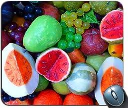 Alfombrilla de raming para juegos de costura de precisión, Melon Peach Grapes Naranjas y limones Patrón Rectángulo personalizado Alfombrilla de ratón antideslizante Alfombrilla de ratón para juegos