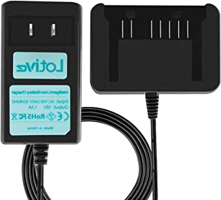 Lotive Battery Charger Compatible with Hitachi 18V li-ion Battery BSL1830C BSL1815X BSL1815S BSL1830 339782 330139 330557
