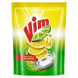 Vim Dishwash Liquid Gel Lemon 500 ml Refill Pouch