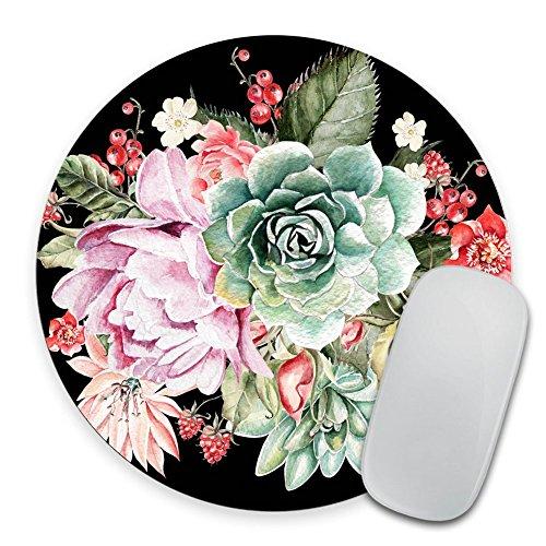Succulent Mousepad Floral Mouse pad Round Mouse pad Beautiful Design Floral Mouse pad