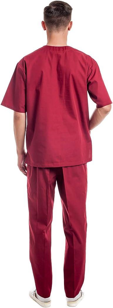 Uniformes Sanitario Pijama Hombre - 7 Tamaños A Medida Xs-3xl - Úsalo como Medico, Enfermera, Peluqueria, Veterinario, SPA, Fisioterapeuta Uniforme O ...