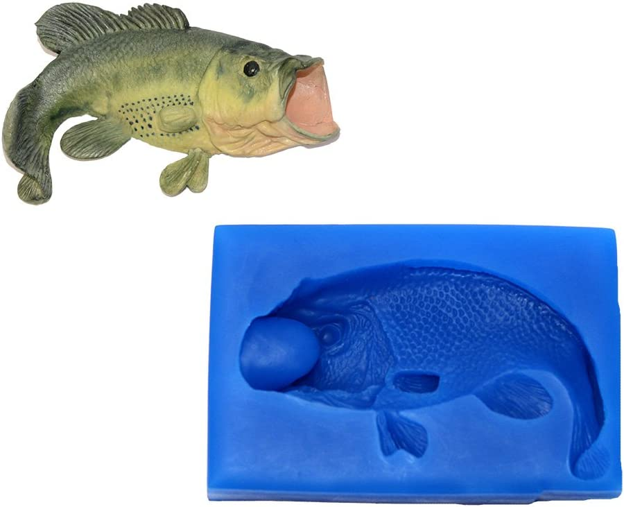 Bass Silicone Animal Fish Mold excellence A207 by Price reduction Molds Impressions First f
