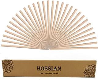 HOSSIAN Lot de 50 bâtonnets de diffuseur de roseaux en Bois de rotin, bâtons de diffuseur d'huiles essentielles – Spa-arom...