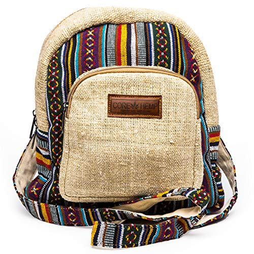 Core Hemp Mini Backpack Boho Hippy Bag(Color), Color, Size One_Size