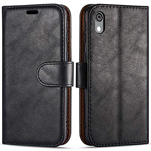 "Case Collection Custodia per Huawei Y5 2019 Cover (5,71"") a Libretto in Pelle di qualità Superiore con Slot per Carte di Credito per Huawei Y5 2019 Custodia"