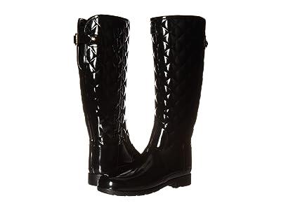 Hunter Refined Gloss Quilt Tall Rain Boots