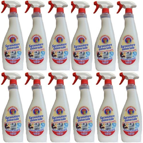 12x Chante Clair 'Sgrassatore universale' Superpotente, 750ml