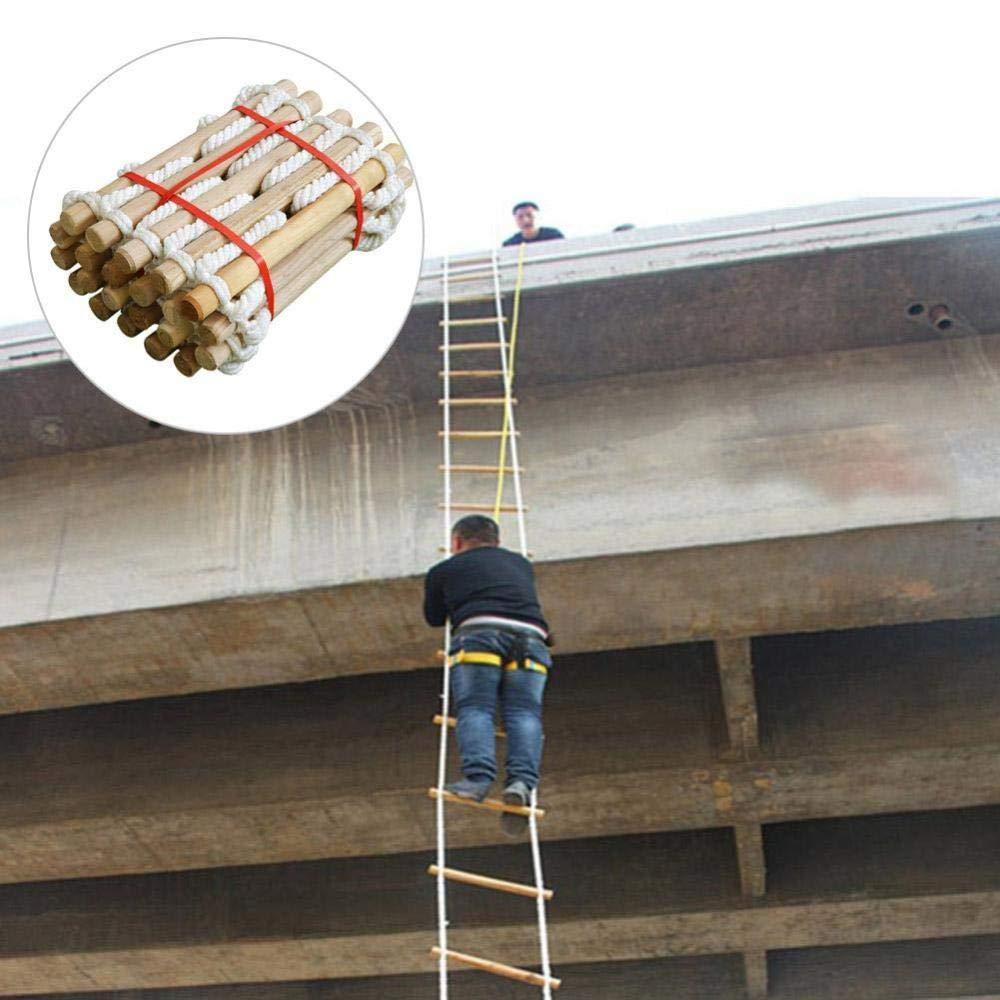PIAOL Escalera De Emergencia contra Incendios Escalera De Seguridad De 5M / 10M - Rápida De Implementar/Fácil De Usar - Compacta/Fácil De Almacenar - Reutilizable con Cuidado,Brown-15M: Amazon.es: Hogar