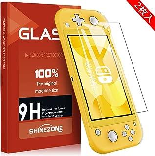 SHINEZONE Nintendo Switch Lite フィルム【2枚パック 】Switch Lite 強化ガラス液晶保護フィルム 硬度9H 高透過率 防爆裂 スクラッチ防止 気泡ゼロ 飛散防止処理保護フィルム