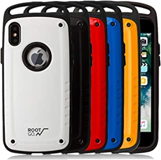 iPhone Xs/X case - Ultra Protection Military Grade Drop and Shock Drop Proof Impact Resist Extreme Durable iPhone Case Xs/X (Red, iPhone Xs/X)