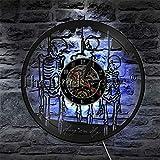 fdgdfgd Multicolor 3D Reloj De Pared Scary Halloween Ghoul LED Horror Decoración Arte | Sorpresa Antes de Navidad