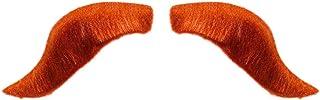 Amakando Krigare överläppskägg för att fästa/röd/röd schnauzbar barber/bäst lämpad för maskeradfester och medeltida fester