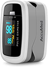 AccuMed CMS-50D1 Fingertip Pulse Oximeter Blood Oxygen Sensor SpO2 for Sports and Aviation. Portable and Lightweight with ...