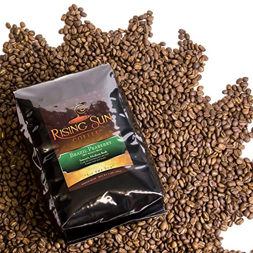 Brazil Peaberry, Roasted Coffee Beans