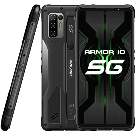 5G Móvil Resistente Ulefone Armor 10【2021】, Dimensity 800 8GB RAM 128GB ROM 2TB SD Externa, 64MP Quad Cámara, Smartphone Antigolpes IP68 Android 10, 6.67'' FHD +, Carga Inalámbrica NFC HiFi Dual SIM