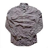 (ジェイクルー)J.CREW ウォッシュド ボタンダウン チェック シャツ ボタンダウンシャツ 長袖シャツ 1872 ワイン ホワイト ブルー (XS) [並行輸入品]
