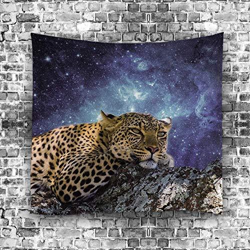giyiohok Tapiz colgante de pared Tapiz de leopardo manchado Tapiz de pared Mandala Tapiz de pared Tapiz de pared grande Tapiz de pared Mandala Tapiz de pared de luna 148cmx200cm