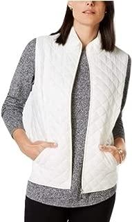 Karen Scott Quilted Puffer Vest White