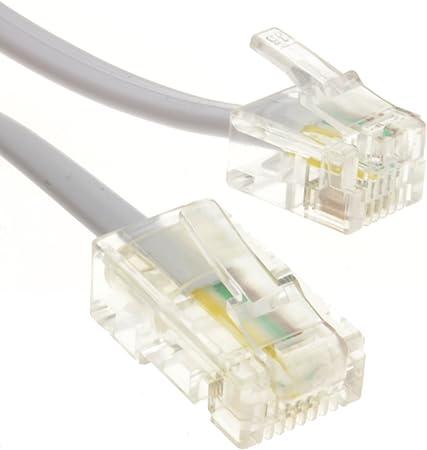 2 m Männlichen RJ11 Stecker Telefonkabel Telefon Kabel Adern Telefonleitung