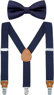 Child Kids Suspender Bowtie Sets - Y Shape Adjustable...