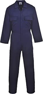 Portwest S999 Euro Polycotton Multipocket Work Coverall with Front Snap Closure, Navy, X Large