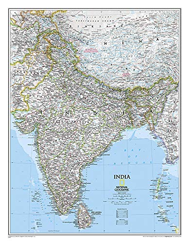 Indien: Wall Maps Countries & Regions (National Geographic Reference Map)