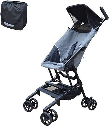 PAPILIOSHOP MINIMAXI Silla de paseo cochecito para bebé ultra compacto e ligero (Gris)