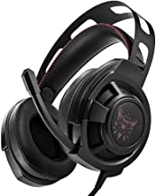 JXH Gaming Earphones Retractable Head Beam,for LOL//PUBG//Wow//Dota//OW//Fps 50MM Loudspeaker with Noise Reduction Microphone 120 /° Rotation