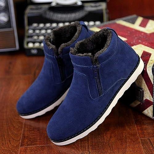 JIUJIUYITECH Bottes De Neige pour Hommes Bottes Bottes d'hiver Warm Warm Plus, Courtes Chaussures Homme élégant  sports chauds