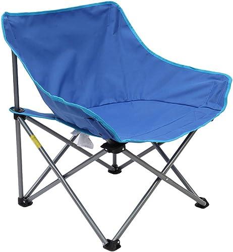 IAIZI - Chaises Pliante légère de Chaise de Camping avec Le Sac de Transport pour la randonnée, la pêche, Plage résistante (Couleur   bleu)