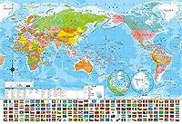 40ピース ジグソーパズル 世界地図(26x38cm)