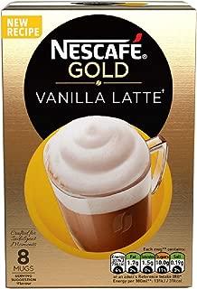 Original Nescafe Cafe Menu Vanilla Flavor Latte Sachets Imported From The UK England British Instant Coffee