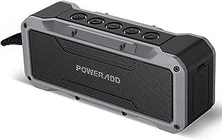 ブルートゥーススピーカー Poweradd ワイヤレス Bluetoothスピーカー 合計36W 強化された重低音 臨場感がすごい IPX7防水防塵規格 24時間連続再生 アウトドアに最適 (グレー)【2年間保証】